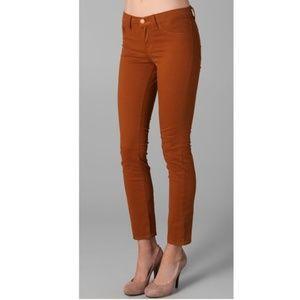 J Brand Terra Cotta Orange Skinny Leg Jeans 28